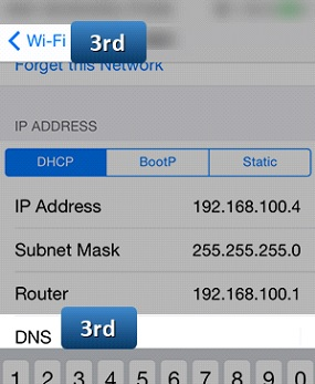 changing dns on iphone