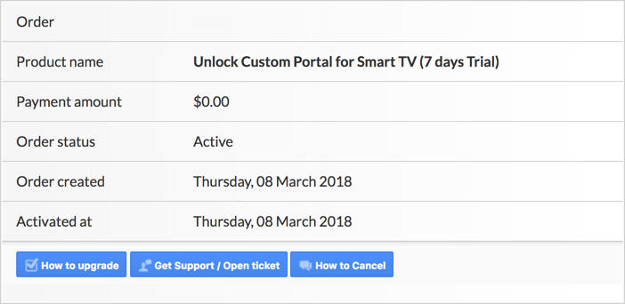 Smart stb trial period