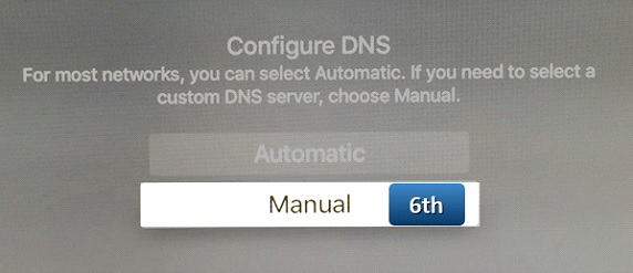 changing dns on appletv