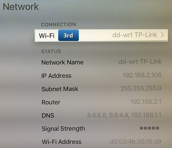 apple tv dns change